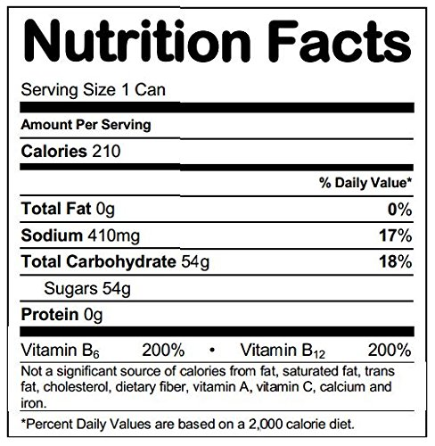 Nos Grape Energy Drink Nutrition Facts