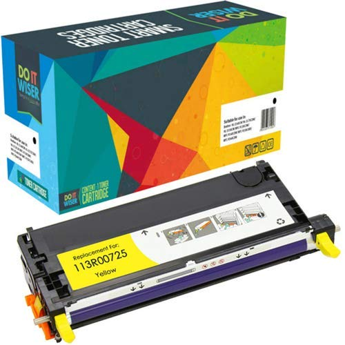 Do it Wiser Remanufactured Toner Cartridge Replacement for Xerox Phaser 6180 6180N 6180DN 6180MFP-D 6180MFP-N | 113R00725 (Yellow)
