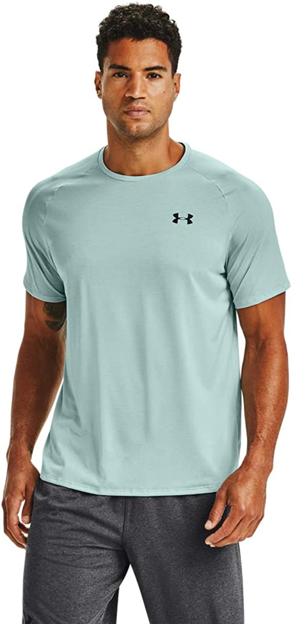 S Under Armour Mens UA Tech Graphic SS T-Shirt Academy// Lime