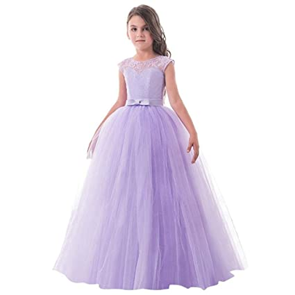 635919b8a9b8e Wesracia Fashion Baby Girls Sleeveless Embroidery Bow Top Halter Zipper Mesh  Princess Dress Party Dress (