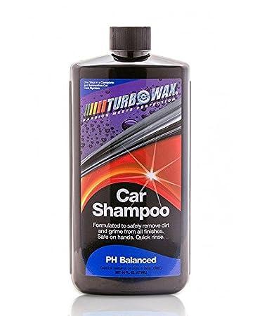Turbo Wax Car Shampoo (16oz Bottle), Gloss Enhancing Shampoo for Show Room Shine