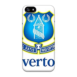 New Premium Flip Case Cover Famous Football Club Of England Everton Skin Case For Iphone 5/5s