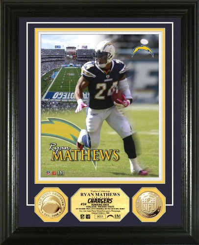 (NFL San Diego Chargers Ryan Matthews 24KT Gold Coin Photo Mint)