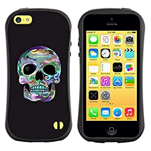 Be-Star Impreso Colorido Diseño Antichoque Caso Del Iface Primera Clase Tpu Carcasa Funda Case Cubierta Par Apple iPhone 5C ( skull surf grey cool death socket eye )
