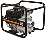 Mi-T-M WTP-S03-2MGM Semi Trash Pump, 212cc OHV Engine, Steel, 104' Maximum Head, 45 PSI, 28' Suction Lift, Black