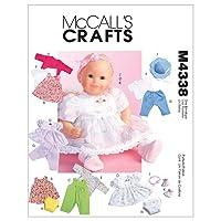 Ropa de muñecas de McCall's Patterns M4338OSZ
