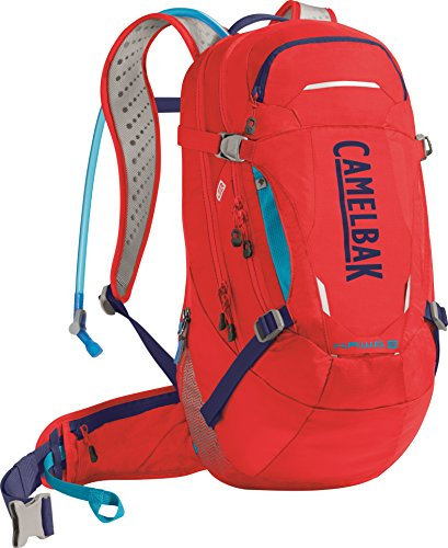 CamelBak H.A.W.G. LR Crux Lumbar Reservoir Hydration Pack, Racing Red/Pitch Blue, 3 L/100 oz