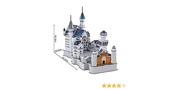 NiXiM 3D Puzzle Castillo de Neuschwanstein 42,3 cm de Largo - Modelo de Arquitectura: Amazon.es: Juguetes y juegos