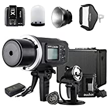 Godox AD600BM Canon Kit with X1T-C Transmitter AD-H600B Mount AD-R6 Reflector PB-600 Bag, AD Glass diffusers,1/8000s Non-TTL Manual 600W Outdoor Flash Light Bowens Mount for Canon
