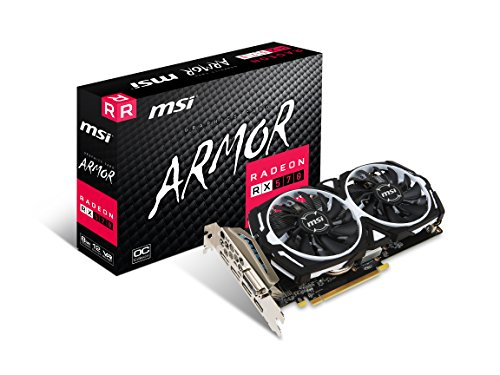 MSI GAMING Radeon RX 570 8GB GDDR5 256-Bit DirectX 12 Graphics Card (RX 570 ARMOR 8G OC) by MSI