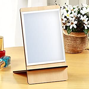 hot sale 2017 European wood mirror/ portable folding mirror/ Princess Desktop mirror/ carry-on size mirror-B