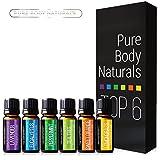 Pure-Body-Naturals-Pure-Therapeutic-Grade-Top-6-Essential-Oil-Basic-Sampler-Kit-610-Ml-Lavender-Tea-Tree-Eucalyptus-Lemongrass-Orange-Peppermint
