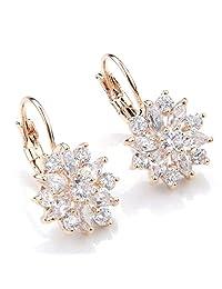 ANDI ROSE Women Girls Bridal Swarovski Crystal Drops Hoop Hook Dangle Earrings