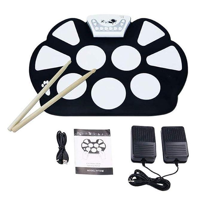 4 opinioni per V.TOP Elettronica Drum Kit Drum Pad per Esercizio con Bacchette- Electronic Roll