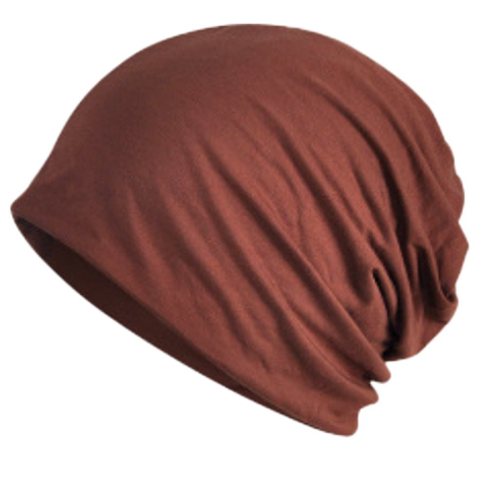 Leisial Women Lady Soft and Breathable Solid Color Pregnant Cap Outdoors Sunscreen Cap Headwear for Hair Loss Used as Collar Nightcap