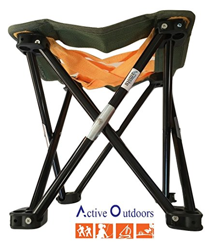 Small Portable Camping, Gardening or Fishing Stool, Strap Webbing,10.5 inches tall