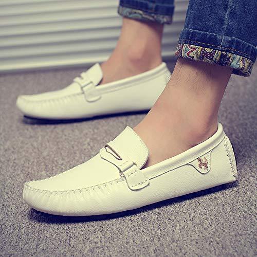 Lazy scarpe in estate vera da scarpe scarpe in Blu KMJBS uomo Trentotto pelle casual in driving pelle uomini 6wH15