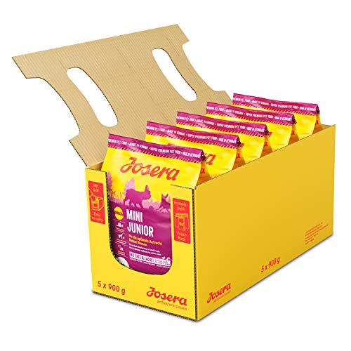 JOSERA MiniJunior (5 x 900 g) | Welpenfutter für kleine Rassen | für eine optimale Entwicklung | Super Premium…