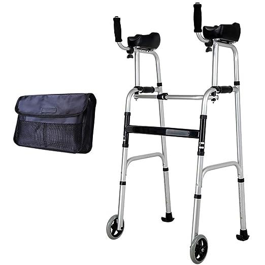 WY-WHEEL Andadores Ancianos Plegable 2 Ruedas - Marco para Caminar ...