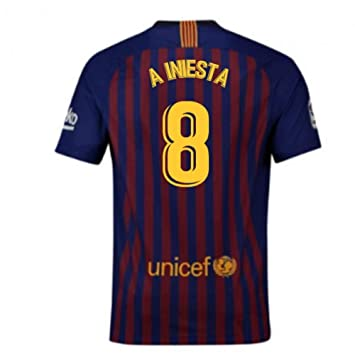 2018-2019 Barcelona Home Nike Football Soccer T-Shirt Camiseta ...