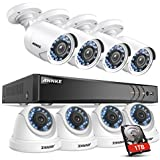 ANNKE 8CH 2MP/3MP Security DVR Recorder with 1TB HDD and (8) Full HD 1080P 1920TVL Security Cameras, Powerful H.264+ 5-in-1 DVR, Super Day/Night Vision, Instant Email Alert with Snapshots