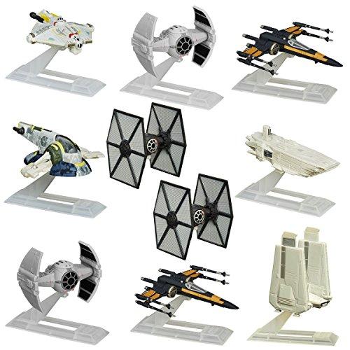 Star Wars (Set Of 10) Black Series Titanium Models Spaceships Vehicles Hasbro Toys