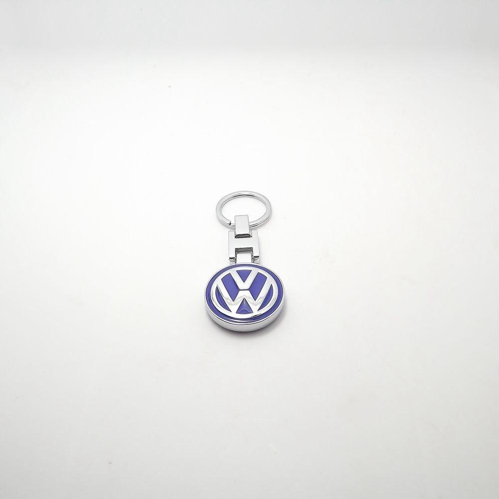 VW Volkswagen Logotipo redondo METAL cadena dominante del anillo llavero azul