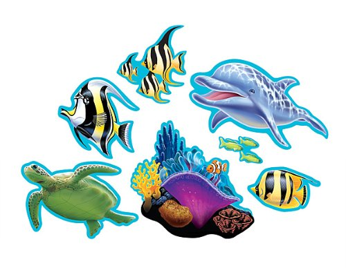 Ocean Party Cutout Assortment 7ct