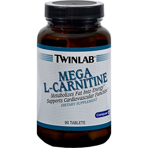 L Carnitine 500Mg,Mega By Twinlab - 90 Tab, Pack of 3 by Twinlab