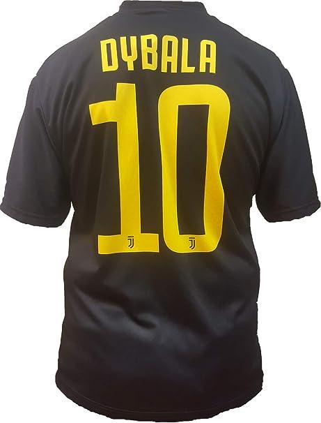 Camiseta de Fútbol Paulo Dybala 10 Juventus Tercera Camisa Negra Temporada 2018-2019 Replica Oficial con Licencia - Todos Los Tamaños NIÑO y Adulto: Amazon.es: Deportes y aire libre