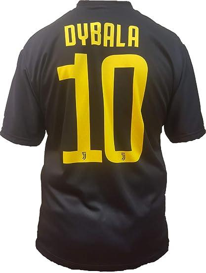 Camiseta de Fútbol Paulo Dybala 10 Juventus Tercera Camisa Negra Temporada 2018-2019 Replica Oficial