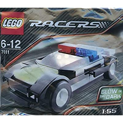 LEGO Racers: Police Car 1:55 Glow In The Dark Set 7611 (Bagged): Toys & Games