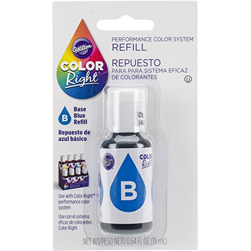 (Wilton Color Right Food Color System Refill, .7oz, Blue)
