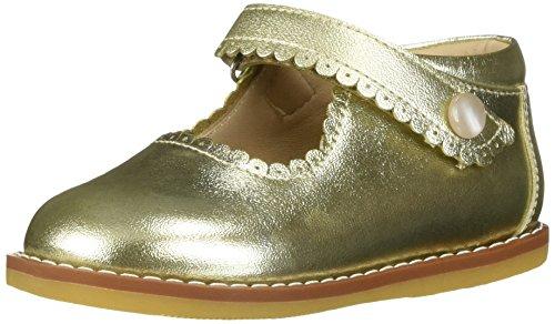 Elephantito Girls Mary Jane Flat, Gold, 4 M US Toddler for $<!--$59.50-->