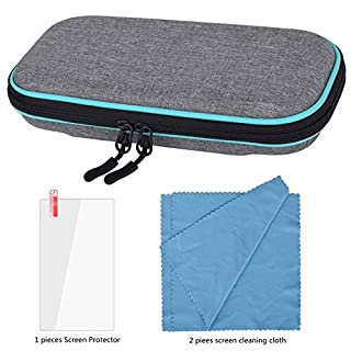 Carrying Case for Nintendo Switch Lite-Portable Hard Shell Travel Carrying Bag with Screen Protector Screen Cleaning Cloth Cover with storage for Switch Lite Console & Accessories & Game Cards