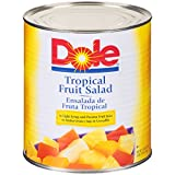 Dole Tropical Fruit Salad in Light Syrup 100 oz, Pack of 6