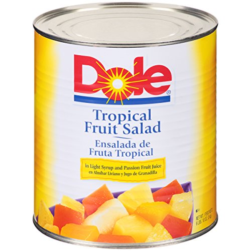 Dole Tropical Fruit Salad in Light Syrup 100 oz, Pack of 6 by Dole Dry