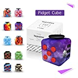 Tepoinn Fidget Attention Cube Relieves Stress and Anxiety Educational Development Toys for Children and Adults (Starry-sky)