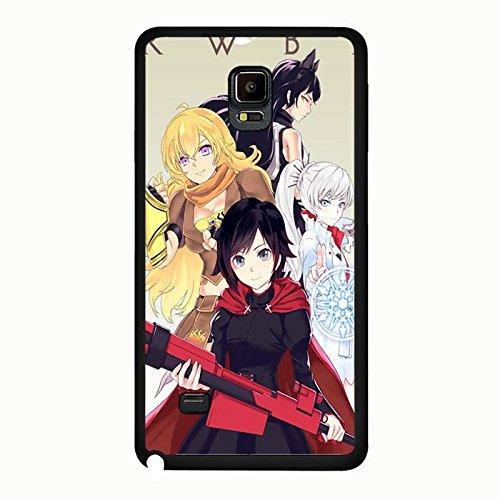 Samsung Galaxy Note 4 Phone Case RWBY 4 Main Roles Elegant Anime Cover