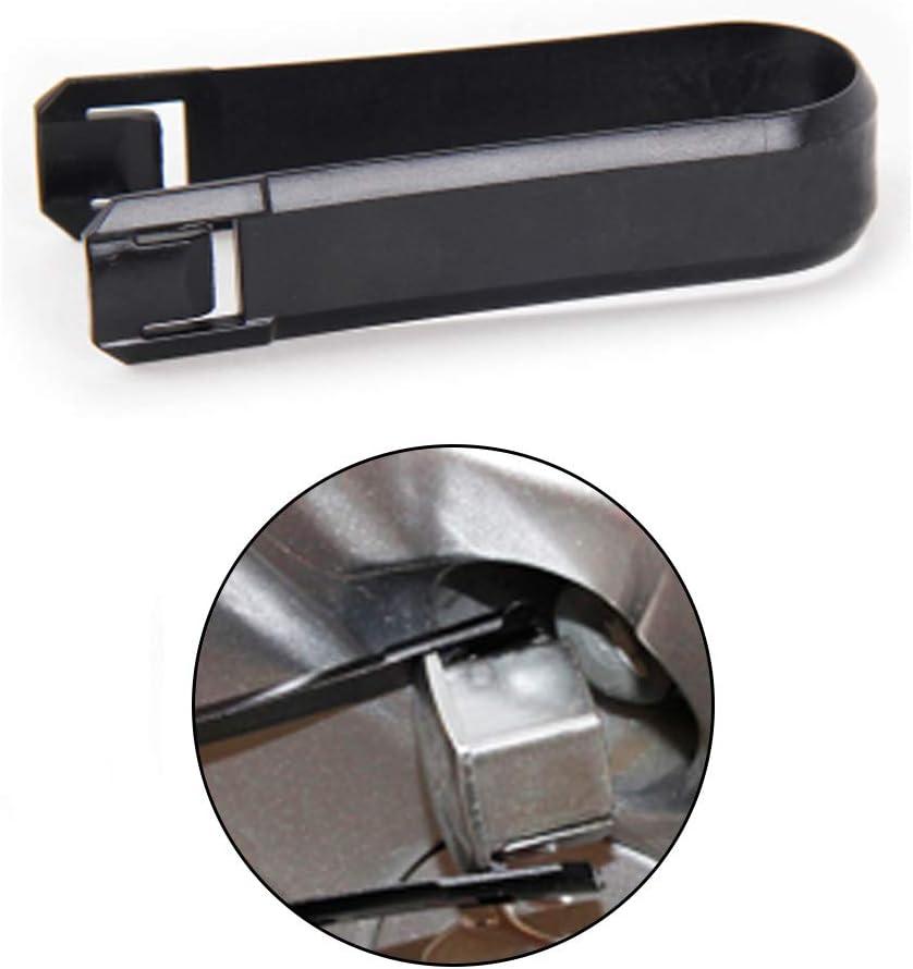 Outil de d/émontage des bornes noir Lot de 2 cache-/écrous de roue pratiques Pince pour cache-/écrous Universel