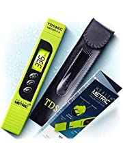Pro TDS Meter Digital Water Tester - 3 in 1 ppm EC and Temperature Test Pen | Easy to Use Water Purity Tester | Ideal for Testing RO Drinking Water Swimming Pool Hydroponics Aquarium & More | Green