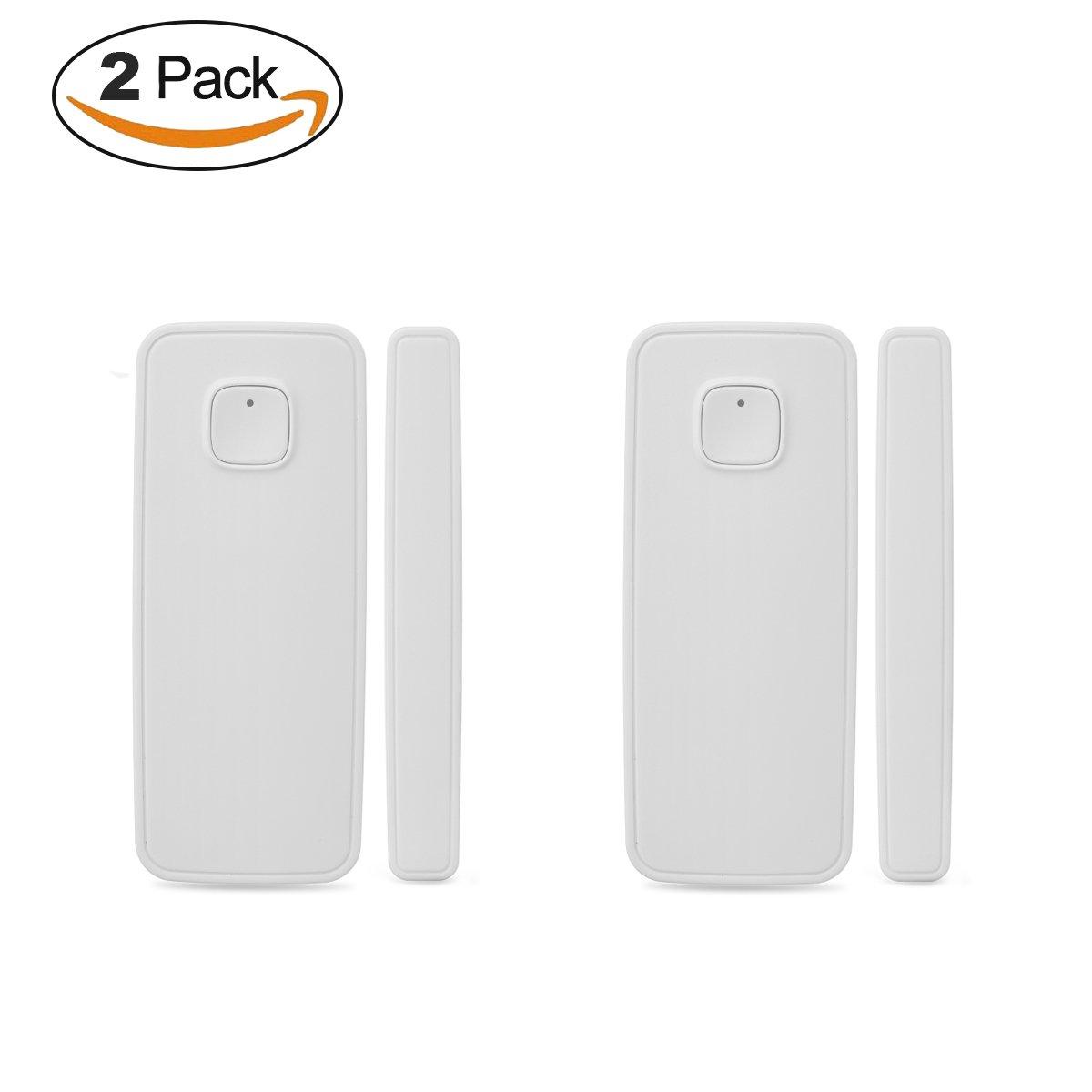 DZX WIFI Home Security Door Sensor Alarm System with Easy App Control for IOS Android Smartphone with Alexa Echo Google Home Door/Window Contact Sensor no Hub Need