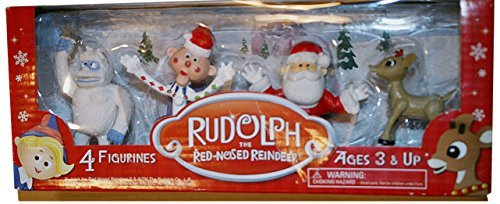 Rudolph 4 Pack Figurine Set