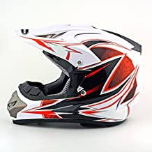 Youth Dirt Bike Motocross Helmet Compact and lightweight off-road helmet (Small, White Dragon)