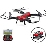 Foldable RC Drone, MaQue WIFI FPV Pocket Quadcopter with 2.4GHz 6-Axis Gyro Wide Angle 720P HD Camera Arm Altitude Hold RC Drone