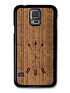 Hipster Arrows Crossed on Cool Wood case for Samsung Galaxy S5