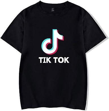 FEIRAN TIK Tok Imprimir Hombres y Mujeres Camisetas Verano Ocio Camiseta de Manga Corta: Amazon.es: Ropa y accesorios