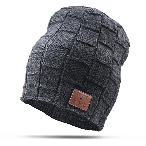 Bluetooth Beanie Hat, Vicotech Wireless 4.1 Hand - Free Knit Hat Cap with Musicphone Speakerphone Stereo Headphone for Fitness Outdoor Sports & Unique Christmas Tech Gifts for Women Men Boys and Girls ()