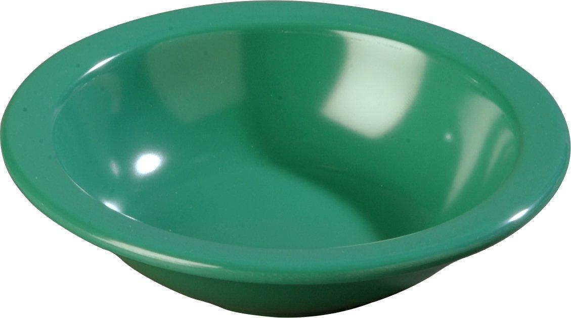 Carlisle 4352909 Dallas Ware Melamine Grapefruit Bowl, 10oz Capacity, 5.95'' Diameter x 1.54'' Depth, Green (Case of 48)