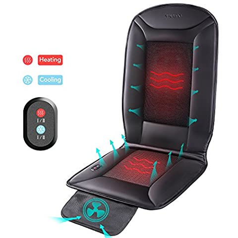 Naipo Heating & Cooling Car Seat Cushion Pad Cover with Double-Zone Breathable 3D Ventilated Holes for 4 Season - Cars Cooling and Heating